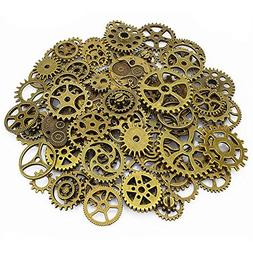 LolliBeads 120 Gram Antiqued Bronze Metal Skeleton Steampunk