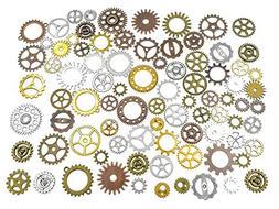 100 Grams Assorted Machine Clock Cog Wheel Gear Punk Steampu