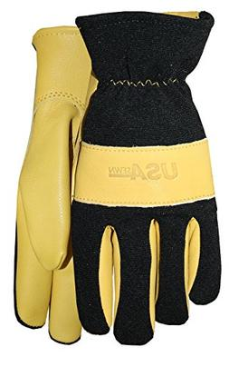 MIDWEST GLOVES /& GEAR 9100-J Winter Glove,Elastic,Unlined,XL,Tan,PR
