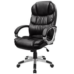 Furmax High Back Office Chair PU Leather Executive Desk Chai