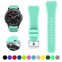 Bands for Samsung Gear S3 Frontier/Classic Watch Silicone Br