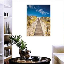 Beach canvas print wall art painting for home decor Walkway