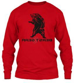 Beast Gear Bear Design Gildan Long Sleeve Tee T-Shirt