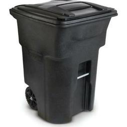 Toter? Black Heavy-Duty Two-Wheel Trash Cart 96 Gallon