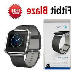 Fitbit Blaze Smart Fitness Watch Black Silver Large