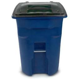 Toter? Blue Heavy-Duty Two-Wheel Trash Cart 96 Gallon