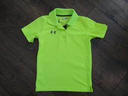 boys neon green heat gear polo golf