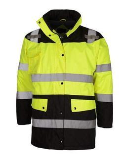 Class 3 Waterproof Fleece-Lined Parka Jacket | Reflective Ra
