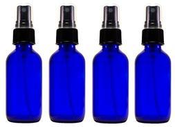 2oz Cobalt Atomizer Bottles  Fine Sprayer Atomizer Glass Ess