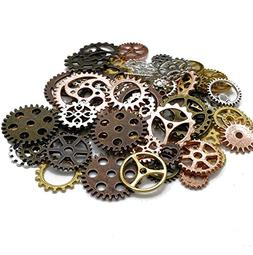 80Pcs Copper Assorted Antique Assorted Color Antique Gears C
