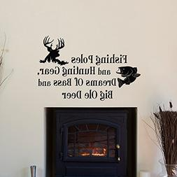 Toonol Country Wall Decals Quotes Fishing Poles and Hunting