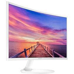 "Samsung Curved 1920x1080 HDMI VGA Monitor, White, 27"""