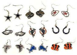 Dangle Pendant Earrings *NFL Football*  Logo Design *Select