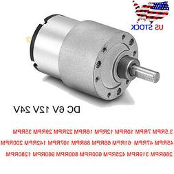 DC 24V/12V/6V Shaft Electric Gear Box Motor Speed  Centric R