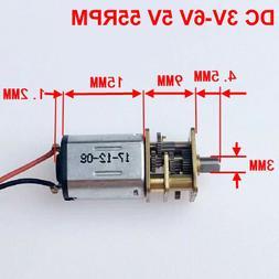 DC 3V-6V 5V 55RPM Mini N20 Gear Motor Slow Speed DIY Robot C