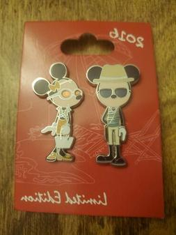 Disney Pin set Bon Vivant #2 Mickey & Minnie Fashion gear an