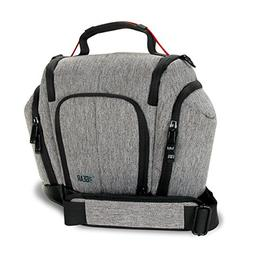 USA GEAR Professional DSLR Camera Bag Carrying Case with Sho