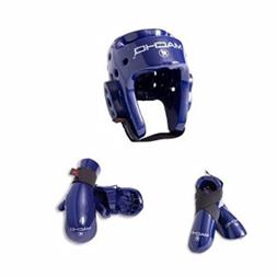 Macho Dyna 5 piece sparring gear set blue child medium