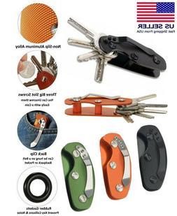 EDC Gear Key Organizer Holder Folder Clamp Pocket Keychain Q