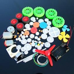 Elediy Advanced Version Dc Motor And Plastic Gear Kit Sets F