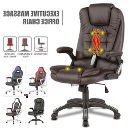 6 Point Massage Racing Game Office Chair PU Leather Ergonomi