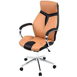 Giantex Ergonomic Pu Leather High Back Executive Computer De