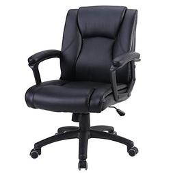 Zenith Ergonomic PU Leather Mid Back Executive Office Chair