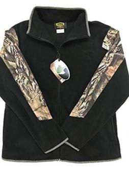 Yukon Gear Fleece Jacket, Mossy Oak, M, New