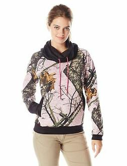 Yukon Gear Women's Funnel Neck Hoodie, Mossy Oak Break-Up Pi