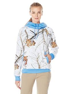 Yukon Gear Women's Funnel Neck Hoodie, Mossy Oak Snowdrift w