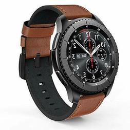 Galaxy Watch 46mm Leather Bands Brown Men's Gear S3 Smartwat