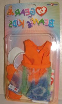 NEW ~ Ty Gear for Beanie Kids BEACH GIRL Swimsuit, Skirt, To