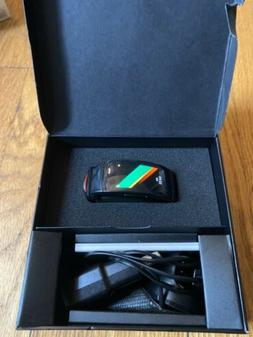 Samsung Gear Fit2 Pro  Black Aluminum Case with Red Sport Ba