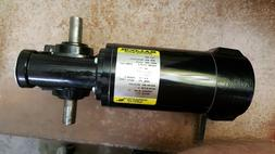 Baldor gear motor 1/8hp 90vdc 52 rpm 3/4 inch shaft .