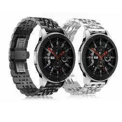 For Samsung Gear S3 / Galaxy Watch 46mm Bands Stainless Stee