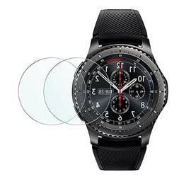 Gear S3 Screen Protector, Wimaha 2 Pack Tempered Glass Scree