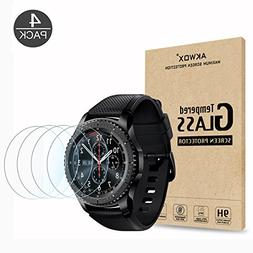 Gear S3 Tempered Glass Screen Protector, Akwox  Premium Cle