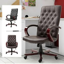 High Back Executive Office Chair PU Leather Ergonomic Comput