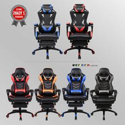 Racing Gaming Chair Office High Back Ergonomic Recliner PU L