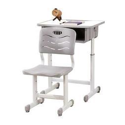 High School Student Desk and Chair Set Adjustable Child Stud