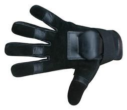 Hillbilly Wrist Guard Gloves - Full Finger Black, Large