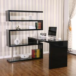 Hollow Core Hobby Corner Desk Computer Table Rotating 4 Tier