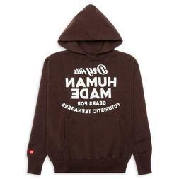 Human Made Hooded Sweatshirt Brown Hoodie Gears for Futurist
