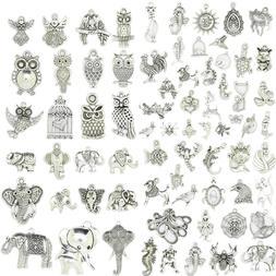 Hot Tibetan Silver Bead Charm Bracelet Pendants Jewelry DIY