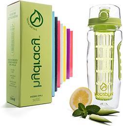 Hydracy Fruit Infuser Water Bottle - 32 Oz Sports Bottle wit