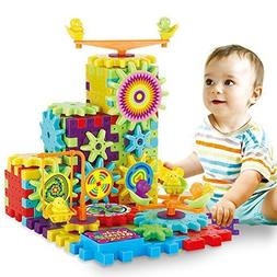 81 Pcs Interlocking Building Blocks and Gears Toy Set with M