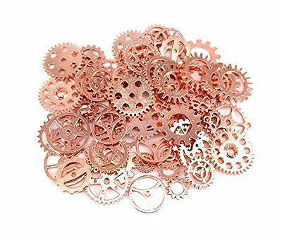 100 gram approx 70pcs antique steampunk gears