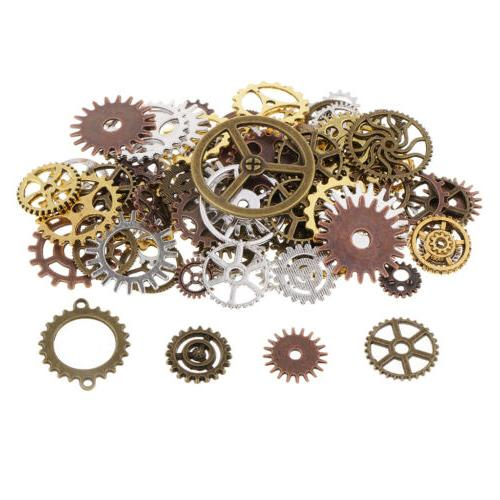 100g Gear Charms Jewelry Making Craft