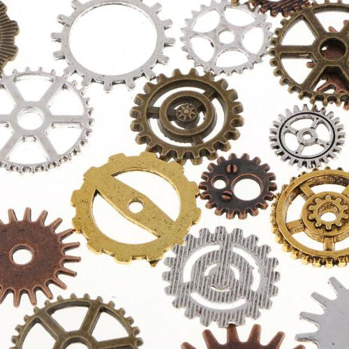 100g Assorted Gear Pendant Jewelry Making Craft