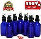 12 Pack Blue Glass Spray Bottles 2 Oz Cobalt Fine Mist Essen